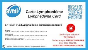 Carte Lymphœdème ⚠︎ risque érysipèle (2021)